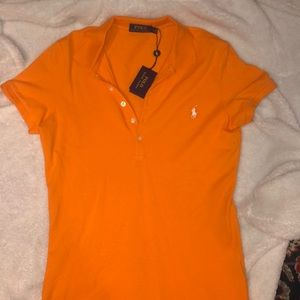 Orange Polo Ralph Lauren Collard Shirt
